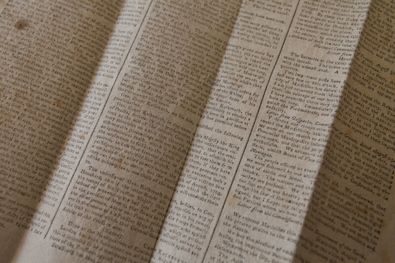 Eighteenth Century Newspaper: International News