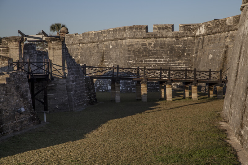 Elevated Walkway and Bridge of Castillo de San Marcos