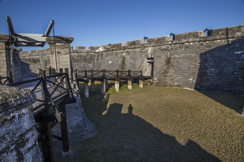 Elevated Walkway and Main Drawbridge Leading to Entrance of Castillo de San Marcos