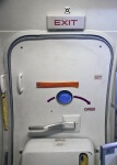 Emergency Exit Door on an Airplane