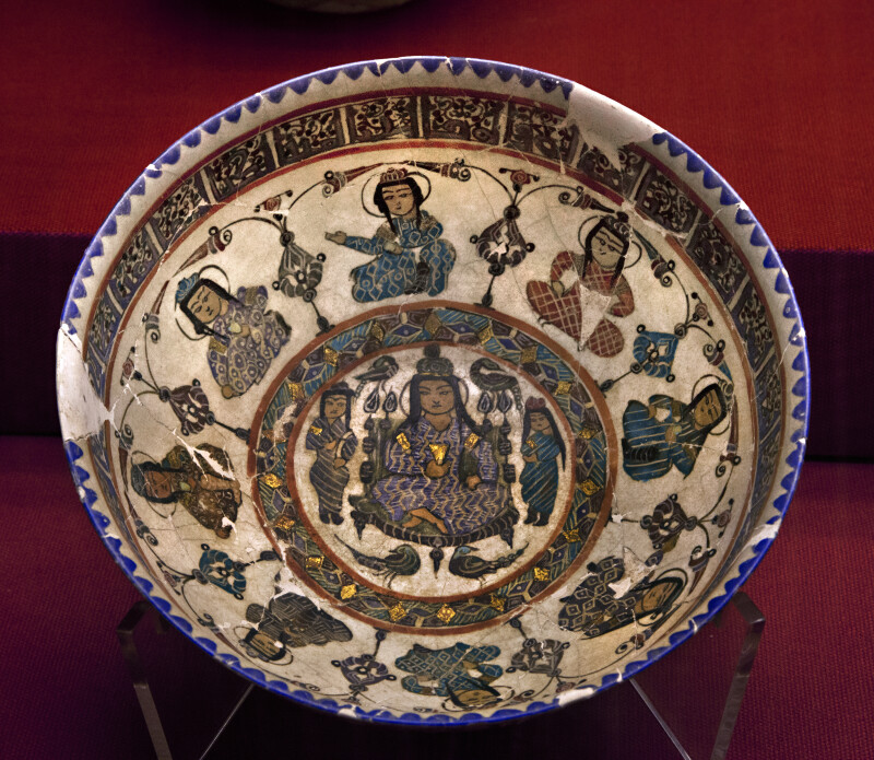 Enameled Bowl From the Great Seljukid Period