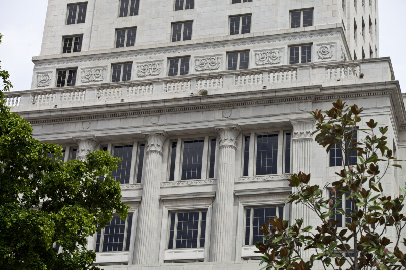 Engaged Columns, and Pilasters, at the Miami-Dade County Courthouse