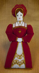 England Handcrafted Doll of Queen Catherine of Aragon, First Wife of Henry VIII (Full View)