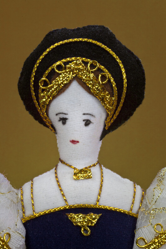 England Handcrafted Stuffed Doll of Jane Seymour Third Wife of King Henry VIII (Close Up)