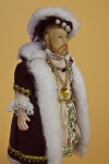England  Majestic Doll of King Henry VIII in Ceremonial Costume (Three Quarter View - Light Background)