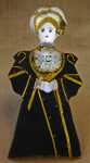 England Queen Anne of Cleves Figurine Made from Stuffed Cloth and Felt (Full View)