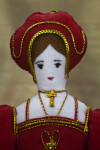 England Queen Catherine of Aragon Ornament, First Wife of Henry VIII Made with Felt and Cloth (Close Up)