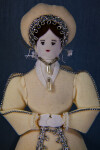 England Queen Katherine Howard Doll with Pearl Jewelry (Dark Background)