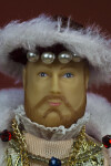 England Regal Figurine of King Henry Who Was Six Times Married in Search of an Heir to England (Close Up)