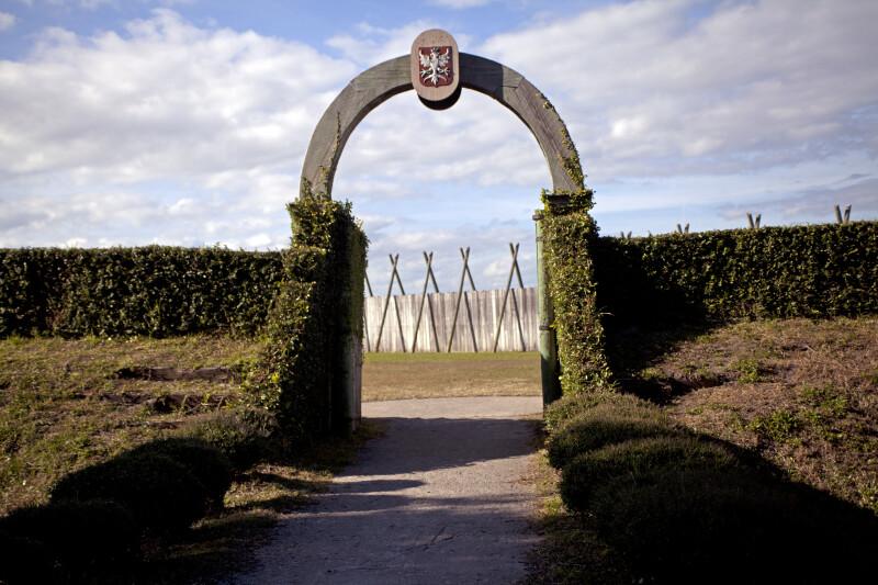 Entrance of Fort Caroline Reconstruction Site