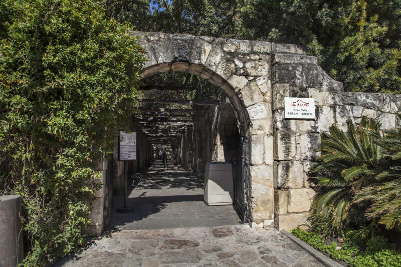 "Entrance to the ""Alamo History Walk"""
