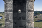 Entryway to Sentry Box  Showing Daylight through Gun-slot