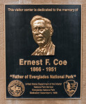 Ernest F. Coe Plaque