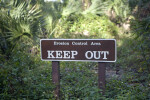 """Erosion Control Area Keep Out"" Sign"