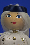 Estonia Handcrafted Female Made from Wood with Painted Face (Close Up)