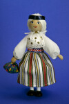 Estonia Lady Made with Wood with Silk Hair (Full View)