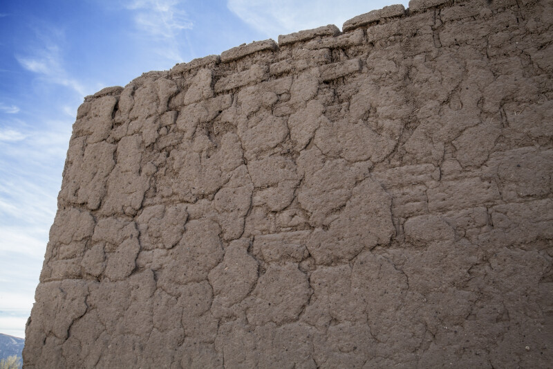 Exposed Adobe Brick of the Alvino House