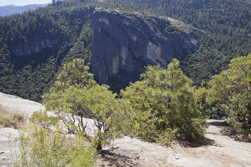 Exposed Rock West of Yosemite Valley
