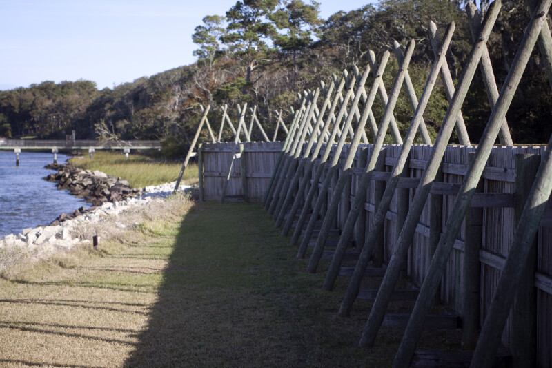 Exterior of Fort Caroline's Sea Wall