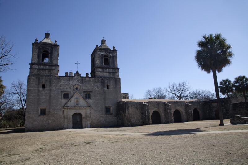 Exterior of the Mission Concepción Church