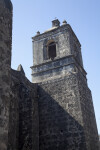 Exterior View of the Belfry at Mission Concepción