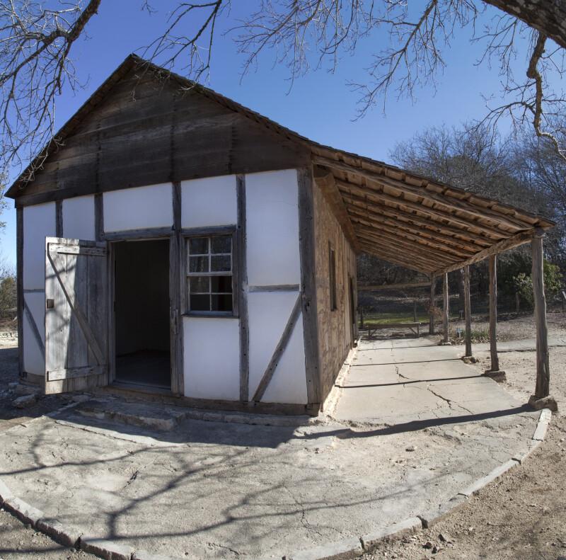 Exterior View of the Schumacher House at the San Antonio Botanical Garden