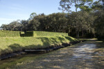 Exterior Walls of the Fort Caroline Reconstruction from the Moat