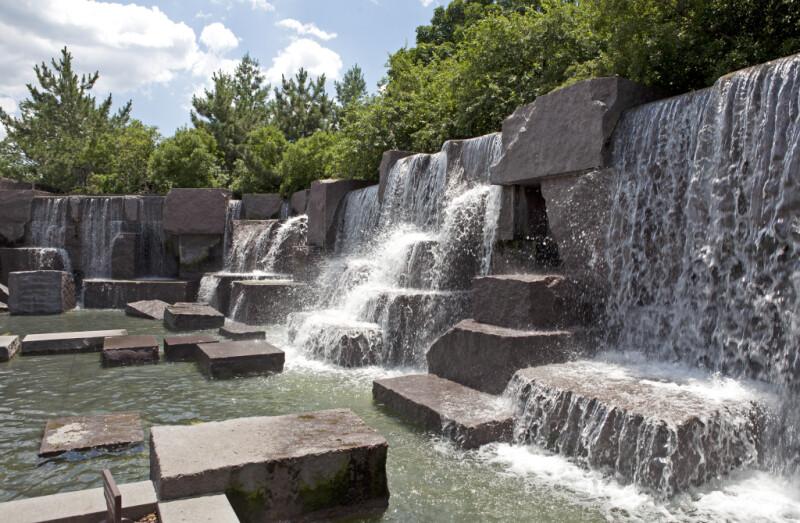 FDR Memorial Waterfalls