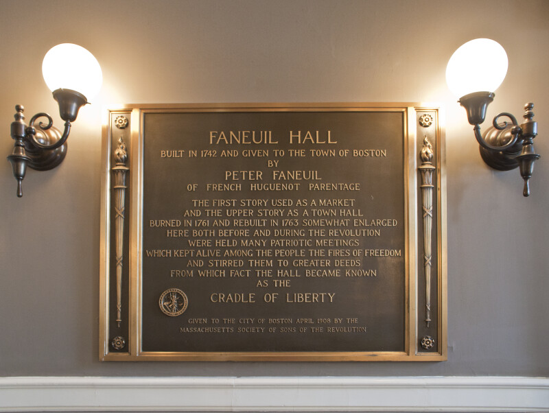 Faneuil Hall Plaque