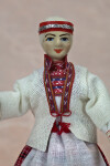 Finland Ceramic Doll with Hand Painted Face and Headband (Close Up)