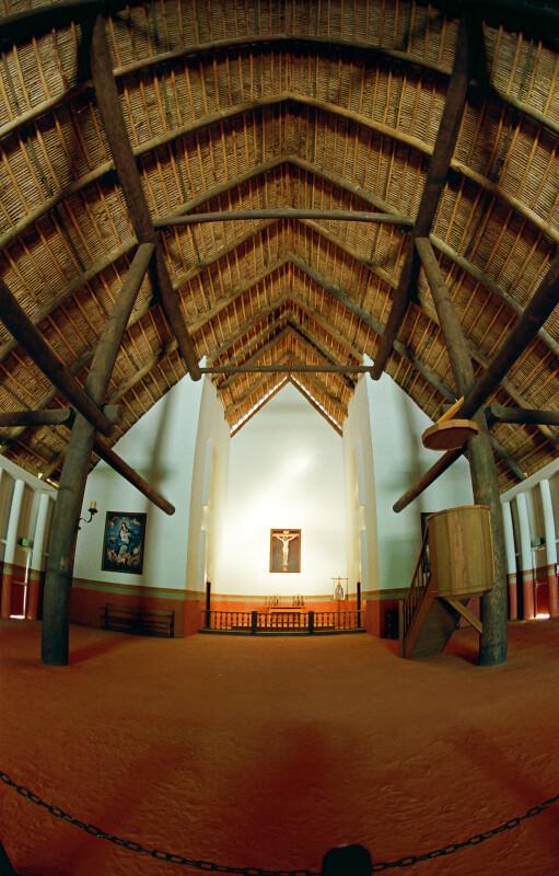 Fish-Eye View of Church Interior