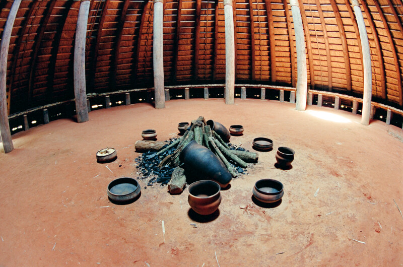 Fish Eye View of the Central Hearth