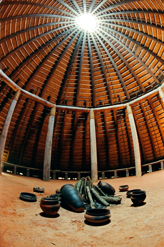 Fish-Eye View of the Central Hearth