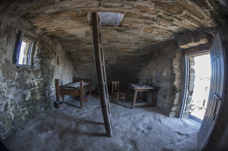 Fish-Eye View of the Living Quarters at Fort Matanzas