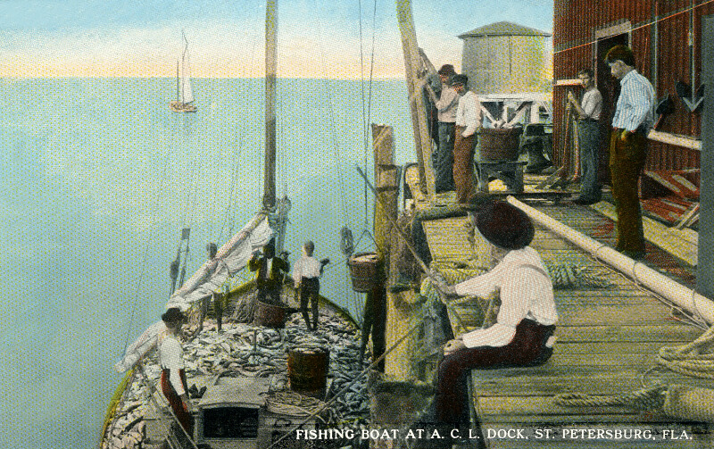 Fishing at Atlantic Coast Line Dock