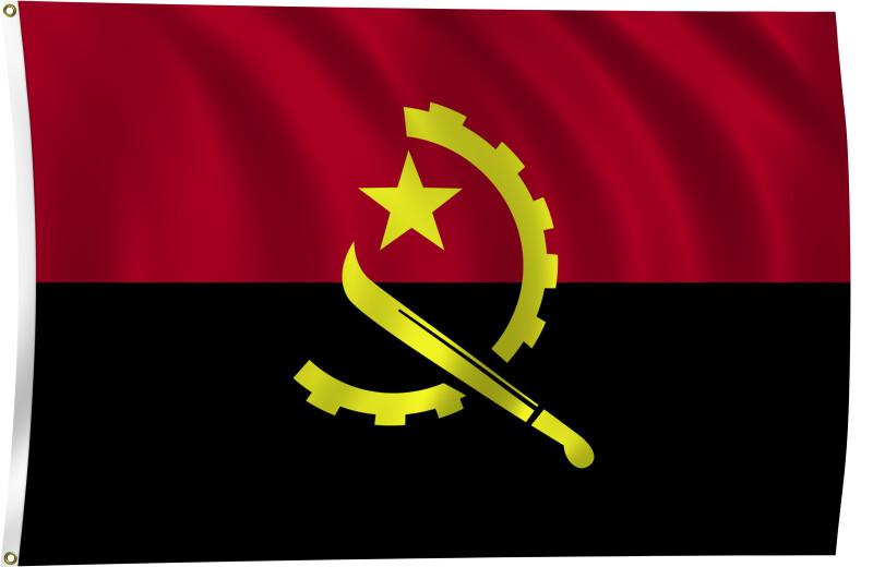 Angola Flag Black And White