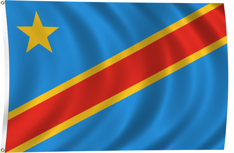 Flag of Democratic Republic of the Congo, 2011