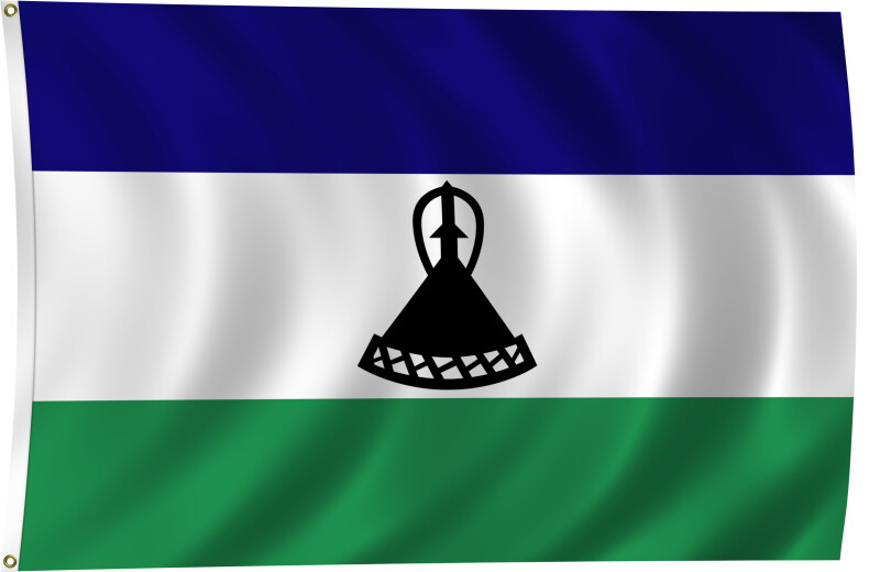 Flag of Lesotho, 2011