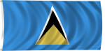 Flag of Saint Lucia, 2011