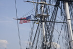 Flags Flying from the Mast of the USS Constitution