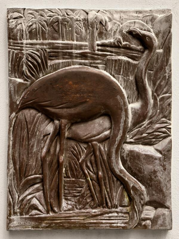 Flamingos in Bronze