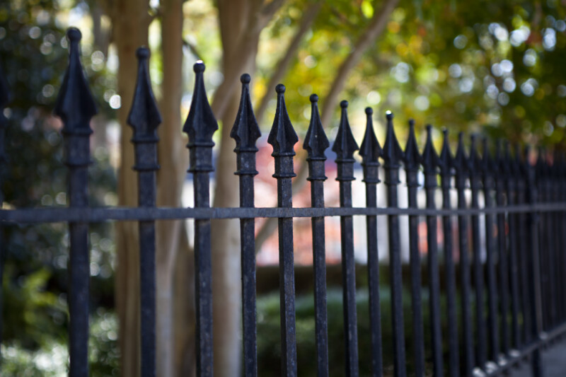Flanged Points on a Wrought Iron Fence