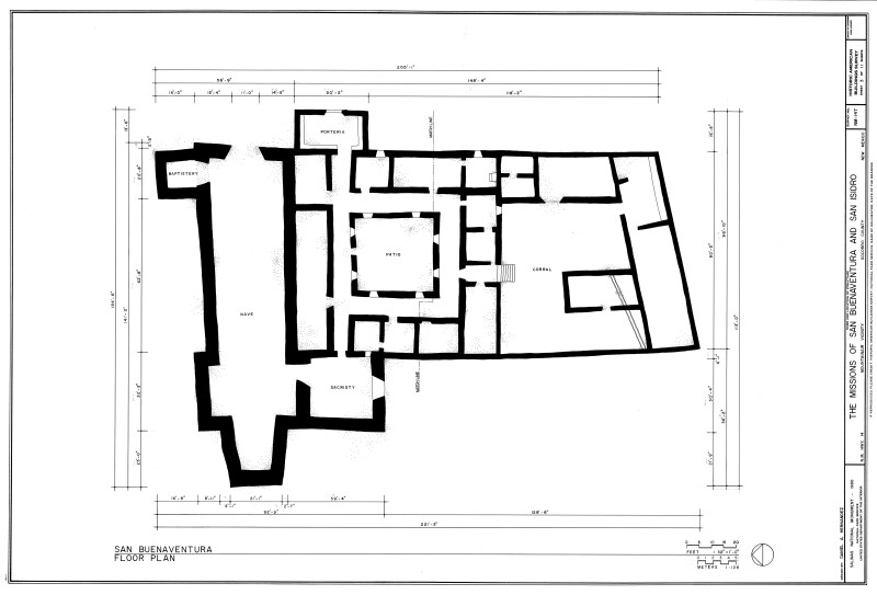 Floor Plan of San Buenaventura