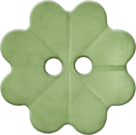 Floral Button with Eight Petals, Light Green