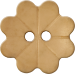 Floral Button with Eight Petals, Tan