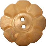 Floral Button with Eight Squarish Petals, Cream