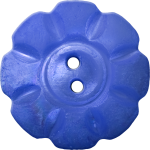 Floral Button with Eight Squarish Petals, Dark Blue