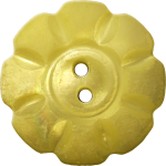 Floral Button with Eight Squarish Petals, Old Gold