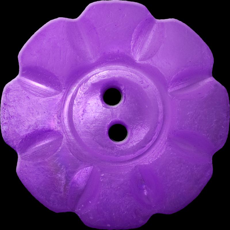 Floral Button with Eight Squarish Petals, Violet