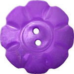 Floral Button with Eight Squarish Petals, Violet